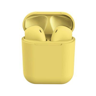 Auriculares Bluetooth InPods 12 c/Caixa de Carregamento Amarelo