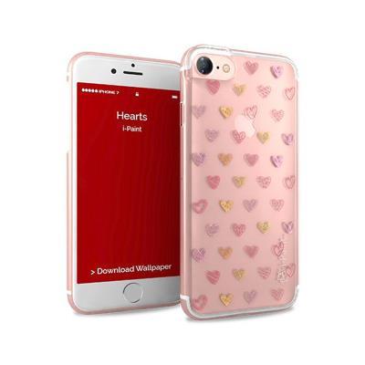 Capa Proteção i-Paint iPhone 7/8 Glamour Corações