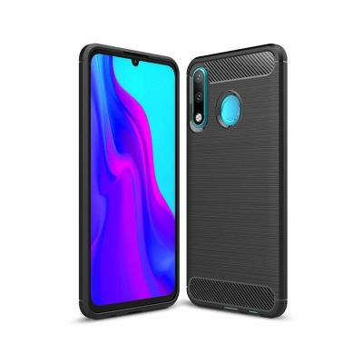 Capa Silicone Forcell Carbon Huawei P30 Lite Preta