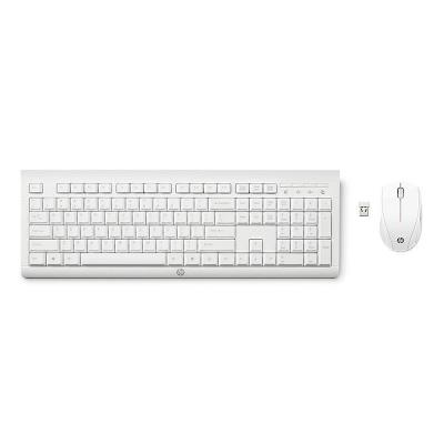 Wireless Keyboard + Mouse HP C2710 PT White