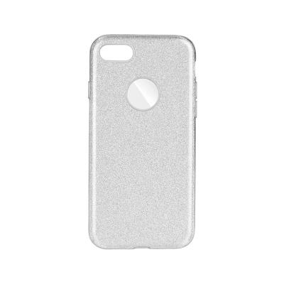 Silicone Shining Cover Forcell iPhone 7/8 Silver