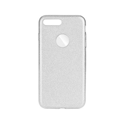 Silicone Shining Cover Forcell iPhone 7/8 Plus Silver