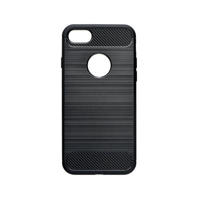 Funda Silicona Forcell iPhone 7/8 Carbon Negra