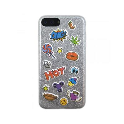 Capa Silicone Benjamins iPhone 8 Plus Stickers