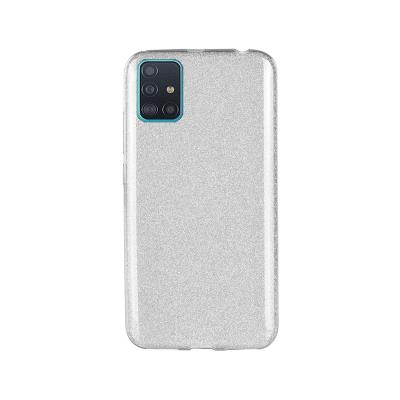 Silicone Shining Cover Forcell Samsung Galaxy A51 A515 Silver