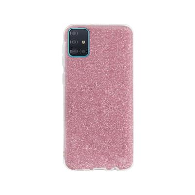Silicone Shining Cover Forcell Samsung Galaxy A71 A715 Pink