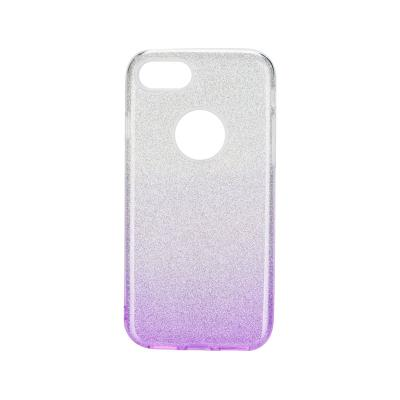 Glitter Silicone Cover iPhone 7/8 Violet