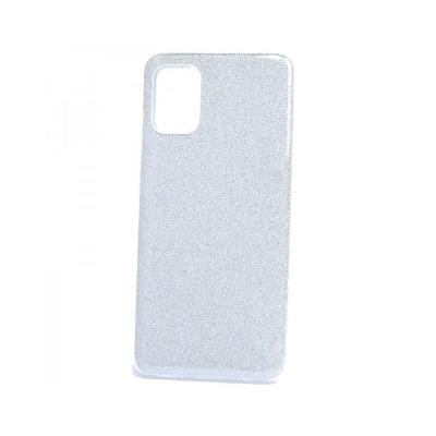 Silicone Shining Cover Forcell Samsung Galaxy A71 A715 Silver