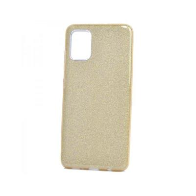 Silicone Shining Cover Forcell Samsung Galaxy A71 A715 Gold