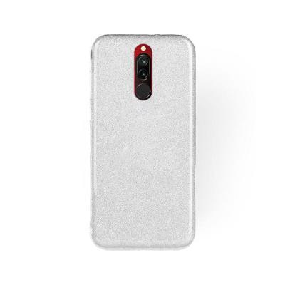 Silicone Shining Cover Forcell Xiaomi Redmi 8/8A Silver