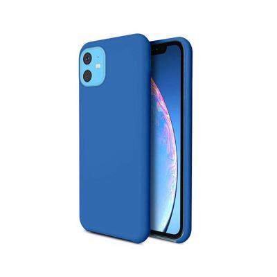 Capa Silicone Premium iPhone 11 Azul Turquesa