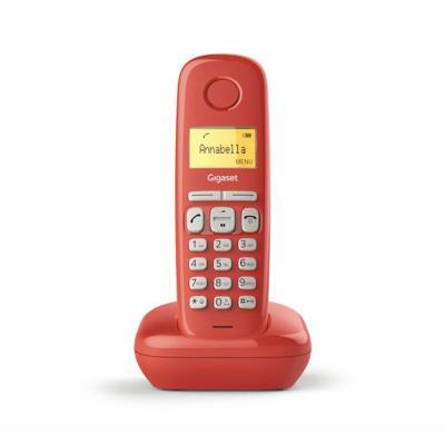 Telefone Fixo Sem Fios Siemens Gigaset A170 Vermelho