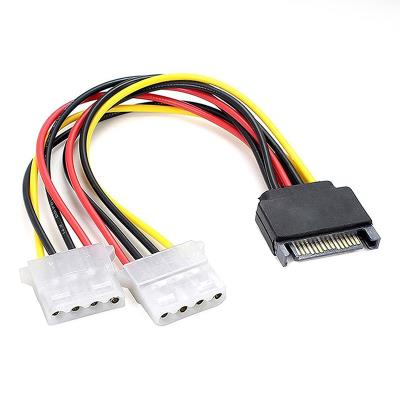Power Cable SATA to 2x Molex 4-Pinos 15cm
