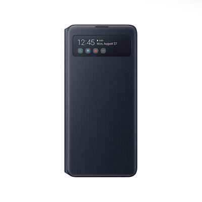 Capa S-View Wallet Original Samsung Galaxy Note 10 Lite Preta (EF-EN770PBE)