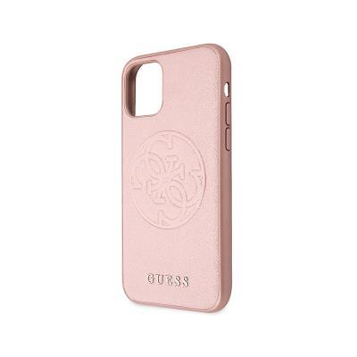 Capa Guess Saffiano iPhone 11 Rosa