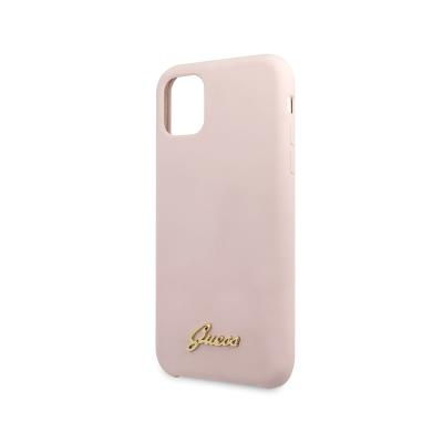 Silicone Vintage Zadní Cover Guess iPhone 11 Pro Pink