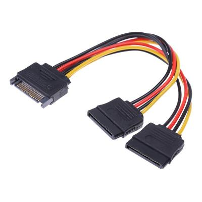 Power Cable SATA M to 2x SATA F 0.15m