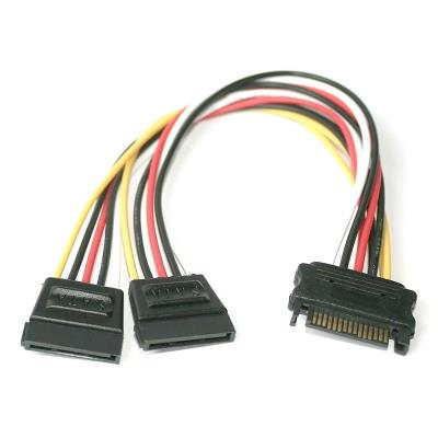 Power Cable SATA M para 2x SATA F 0.20m