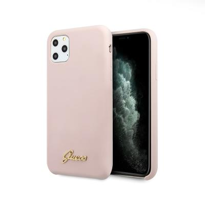 Capa Silicone Guess iPhone 11 Pro Max Vintage Zadní Rosa