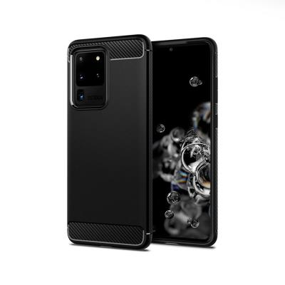 Funda Silicona Samsung Galaxy S20 Ultra G988 Carbon Negra