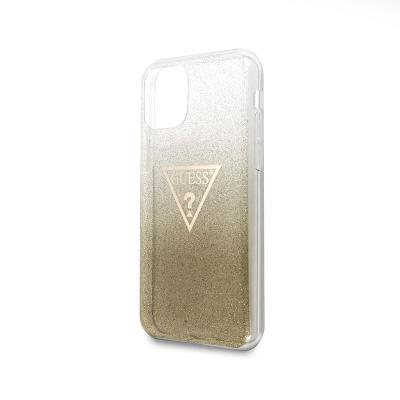 Glitter Silicone Cover Guess iPhone 11 Pro Max Gold