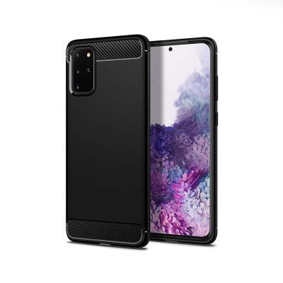 Silicone Carbon Cover Samsung Galaxy S20 Plus G985 Black