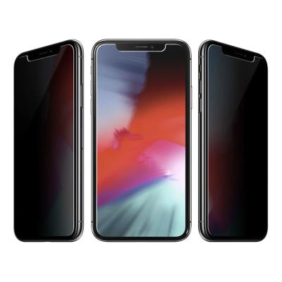 Tempered Glass Film iPhone X/XS Privacy Fullscreen Black