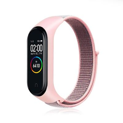 Nylon Bracelet Xiaomi Mi Band 3/4 Pink