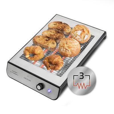 Flat Toaster Cecotec Turbo EasyToast Inox 900W