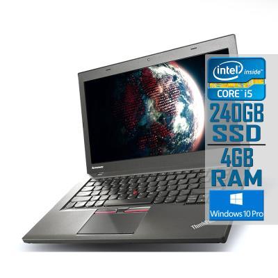 "Portátil Lenovo ThinkPad T450 14"" i5-5300U SSD 240GB/4GB Recondicionado"