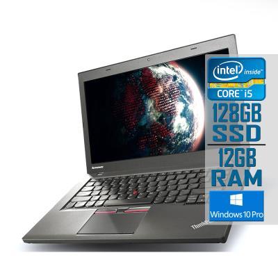 "Laptop Lenovo ThinkPad T450 14"" i5-5300U SSD 128GB/12GB Refurbished"