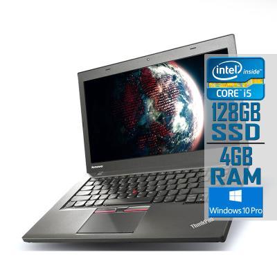 "Laptop Lenovo ThinkPad T450 14"" i5-5300U SSD 128GB/4GB Refurbished"