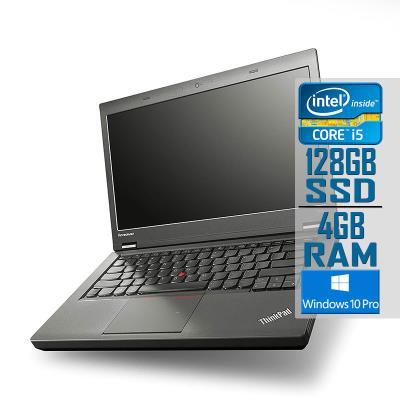 "Laptop Lenovo ThinkPad T440P 14"" i5-4300M SSD 128GB/4GB Refurbished"