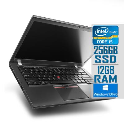 "Laptop Lenovo ThinkPad T450s 14"" i5-5300U SSD 256GB/12GB Refurbished"