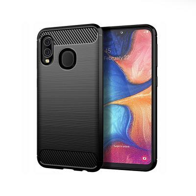Funda Silicona Carbon Samsung Galaxy A20e A202 Negra