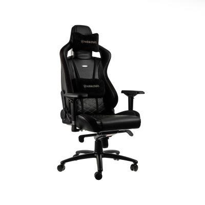 Cadeira Gaming Noblechairs EPIC PU Leather Preta/Dourada (NBL-PU-GOL-002)