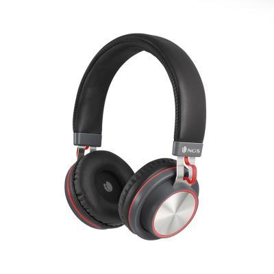 Auriculares Bluetooth NGS Artica Patrol Negro/Rojo