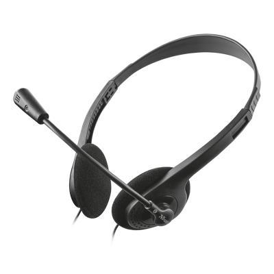 Headset Trust Chat c/Microfone Preto