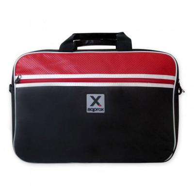 "Laptop Bag Approx 15.6"" Black/Red"