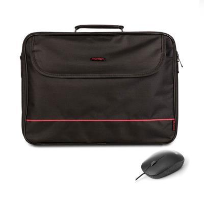 """Laptop Bag + Mouse Monray Bureau 16"""" Black"""