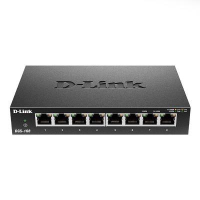 Switch Gigabit 8 Portas D-Link DGS-108