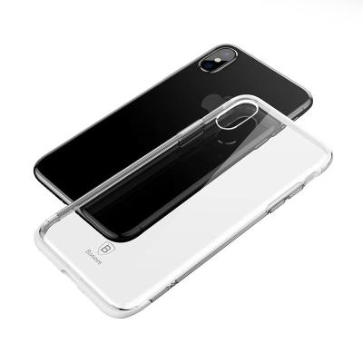 Funda Silicona antichoque Baseus iPhone X Blanca