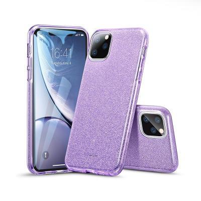 Glitter Silicone Cover ESR Makeup iPhone 11 Pro Purple