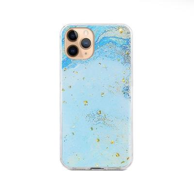 Silicone Protective Cover Marble iPhone 11 Pro Blue