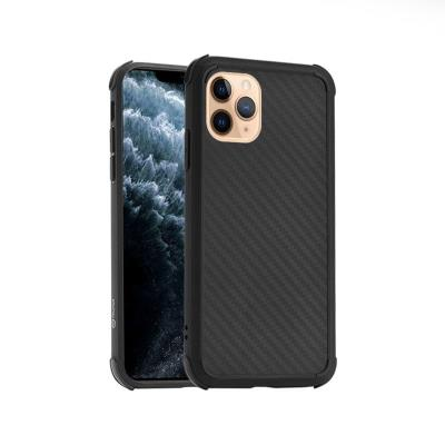 Anti-Shock Silicone Carbon Cover Roar iPhone 11 Pro Max Black