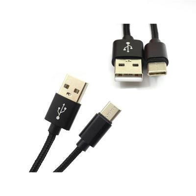 Cabo Dados ATX USB Tipo-C 8mm Preto