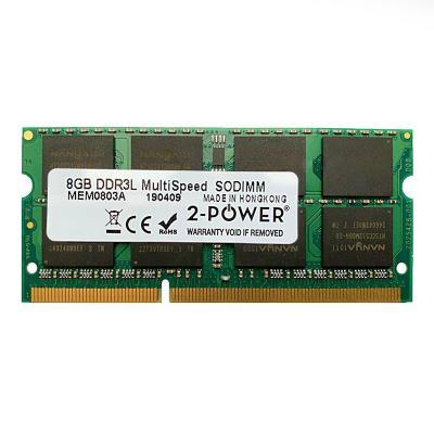 RAM Memory 2-Power 8GB DDR3L 1066/1333/1600 MHz SO-DIMM (MEM0803A)