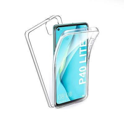 Silicone Cover Front and back Huawei P40 Lite Transparent