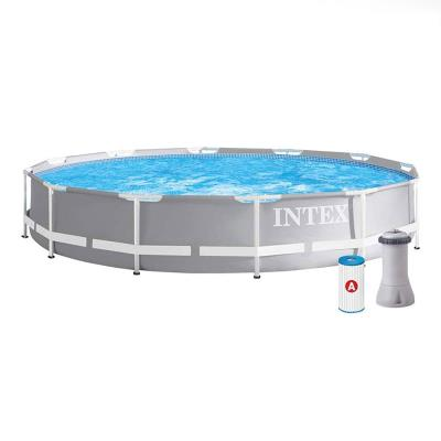 Pool Intex 26712GN 366x76cm w/Filter Grey
