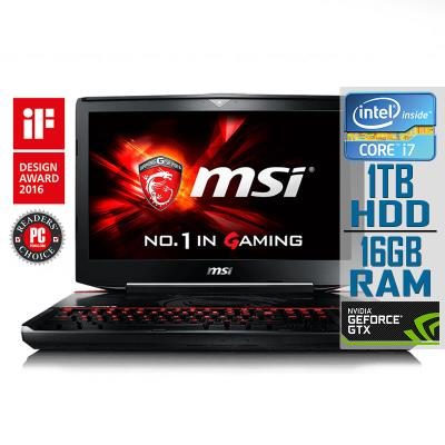 "MSI MS-1814 18"" i7-6820HK GTX 970M 1TB/16GB Refurbished"